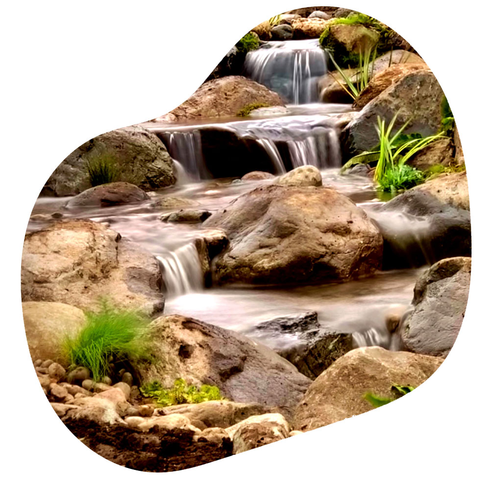 Streams & waterfalls construction
